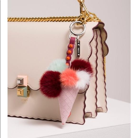b1312c82820 Fendi Accessories   Auth New Mink Fur Ice Cream Bag Charm   Poshmark